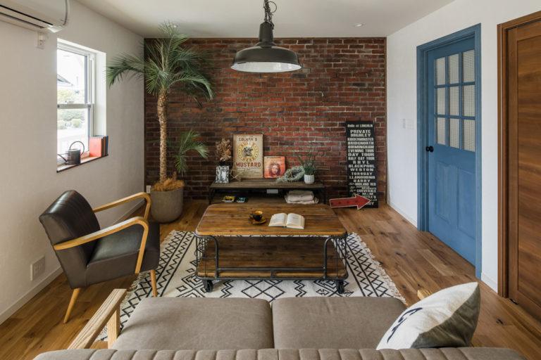 デザインコンクリートをアクセント、ウォールのあるお家